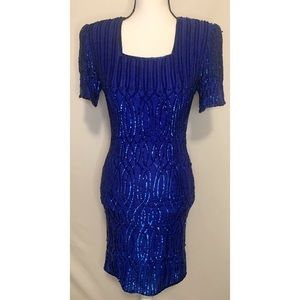 Stenay vintage silk beaded dress size 4